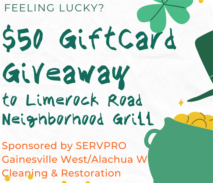 SERVPRO Gainesville West Spring Giveaway: $50 Gift Card to Limerock Road Neighborhood Grill